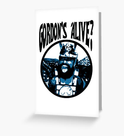 Prince Vultan - Gordon's Alive? Greeting Card