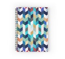 Colorful Geometric Background Spiral Notebook