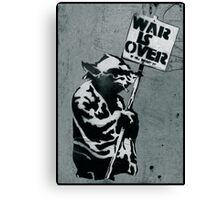 "Yoda says ""War is Over"" Canvas Print"