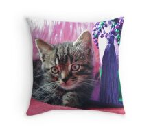 Kitty Daydream Throw Pillow