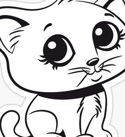 Katze baby süss sitzt lieb  Sticker