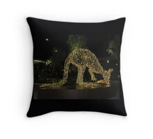 Kangaroo Christmas Throw Pillow