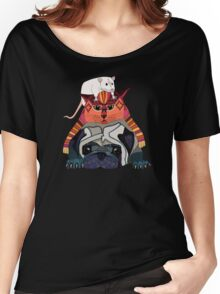 mouse cat pug chocolate Women's Relaxed Fit T-Shirt