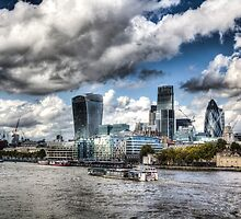 The Thames and City of London by DavidHornchurch