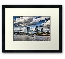 The Thames and City of London Framed Print