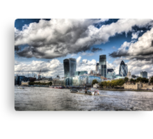 The Thames and City of London Canvas Print
