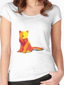 Abstract vector cat by TKR Art Women's Fitted Scoop T-Shirt