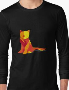 Abstract vector cat by TKR Art Long Sleeve T-Shirt