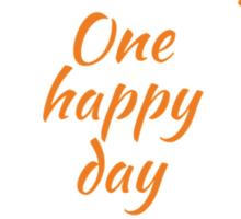 One happy day Sticker
