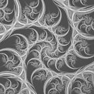Spiral Thorns in Black and White by Objowl