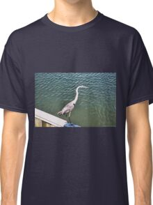 Tri-Colored Heron, on the Wall Classic T-Shirt