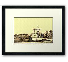 Antiqued Tugboat Framed Print