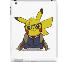 PikaWho - White iPad Case/Skin