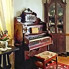 Organ in Victorian Parlor with Vase by Susan Savad