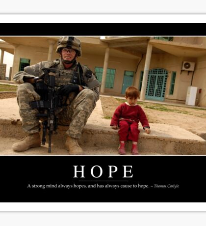 Hope: Inspirational Quote and Motivational Poster Sticker