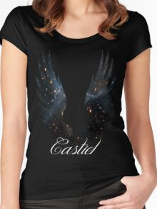 Castiel Galaxy Blue Women's Fitted Scoop T-Shirt