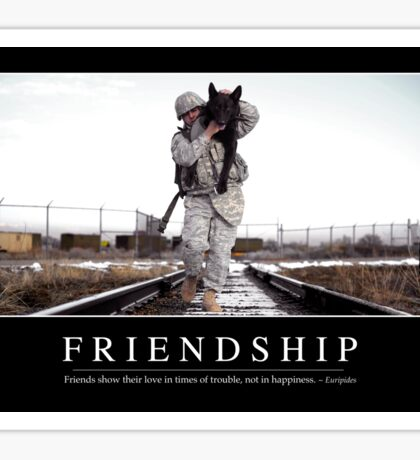 Friendship: Inspirational Quote and Motivational Poster Sticker