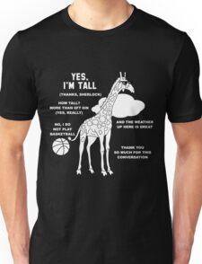 Tall People's Funny Small Talk Unisex T-Shirt