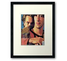 Keanu & River Framed Print