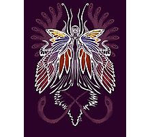 Mab the Queen of Fey (bold white and pale purple) Photographic Print