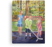 The Puck Stops Here Canvas Print
