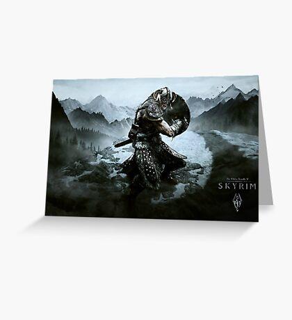 Skyrim warrior  Greeting Card