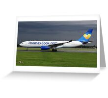 Thomas Cook A330 at Manchester Airport Greeting Card