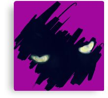 StormCat's Eyes With Brush Strokes Canvas Print