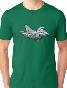 Cartoon Fighter Plane Unisex T-Shirt