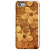 Grunge floral card iPhone Case/Skin