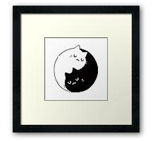Yin Yang Cats Kittens Framed Print