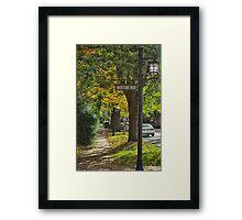 Boston Way Framed Print