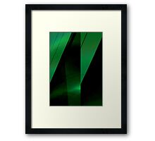green leaf folds Framed Print
