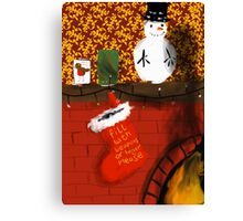 Waiting for Santa... Canvas Print