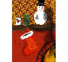 Waiting for Santa... Photographic Print
