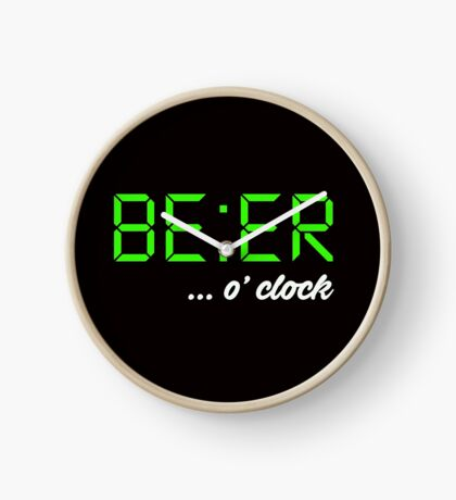 It's BEER 'o Clock! Let everyone know it's time to drink beer, beer-o-clock Clock