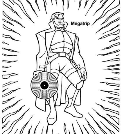 Megatrip Posing With Record Sticker