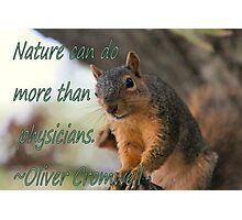 Nature Card with a cute squirrel Photographic Print