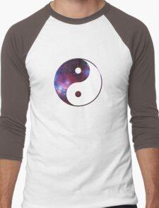 Ying and yang galaxy Men's Baseball ¾ T-Shirt