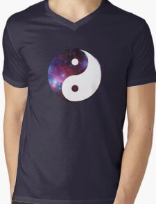 Ying and yang galaxy Mens V-Neck T-Shirt