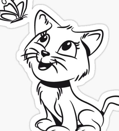 Katze baby süss lieb schmetterling  Sticker