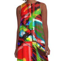 Caterpillar abstract A-Line Dress