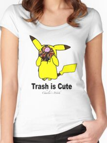 Trash is cute Women's Fitted Scoop T-Shirt