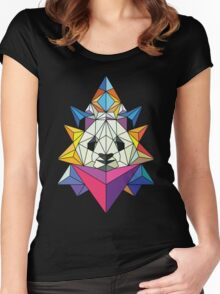 Polygonal Panda Women's Fitted Scoop T-Shirt
