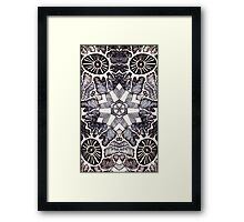 """Black and White - """"Electric Shapes"""" Framed Print"""