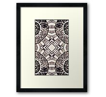 """Black and White - """"Auric Collision"""" Framed Print"""