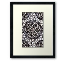 """Black and White - """"Fusion"""" Framed Print"""