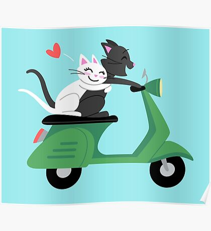 Scooter Cats Poster