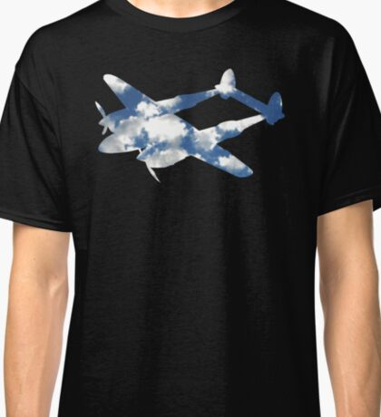 P-38 Airplane Clouds Classic T-Shirt