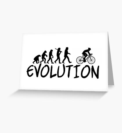 Cycling Evolution - Funny Design Cyclist Greeting Card